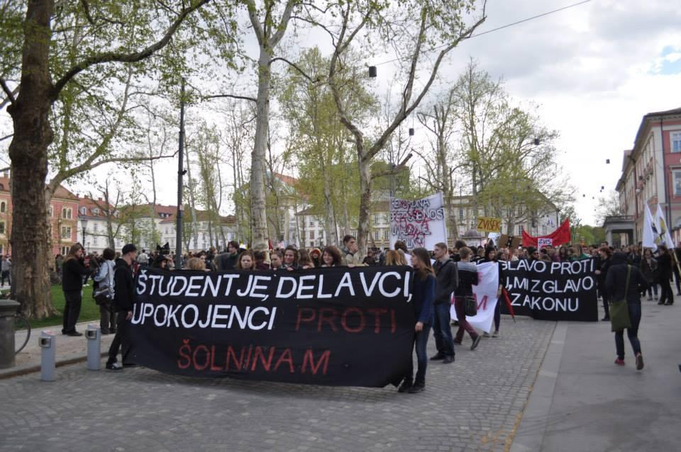 Protest proti ZVis 2014